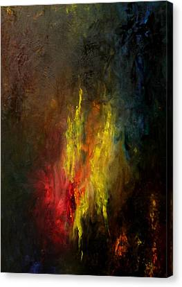 Canvas Print featuring the painting Heart Of Art by Rushan Ruzaick