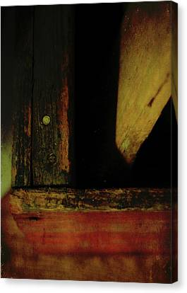 Heart Of Darkness And Light Canvas Print by Rebecca Sherman