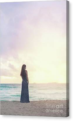 Miami Canvas Print - Heart Of Dawn by Evelina Kremsdorf