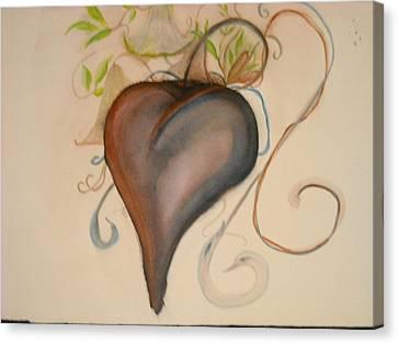 Heart Of Flowers Canvas Print by Marian Hebert