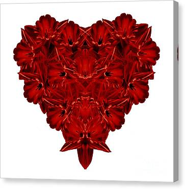 Heart Of Flowers T-shirt Canvas Print by Edward Fielding