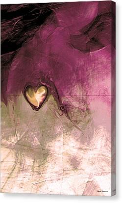 Meditation Art Canvas Print - Heart Of Gold by Linda Sannuti