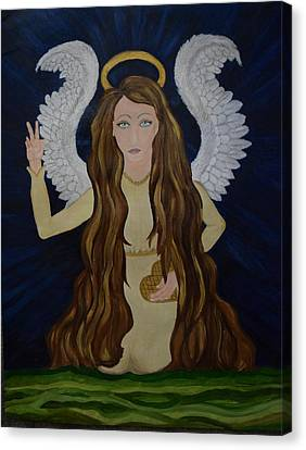 Heart Of Gold Canvas Print by Wendy Wunstell