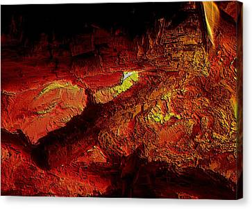 Canvas Print featuring the photograph Heart Of The Fire by Erica Hanel