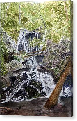 Canvas Print featuring the painting Heart Of The Forest by Joel Deutsch