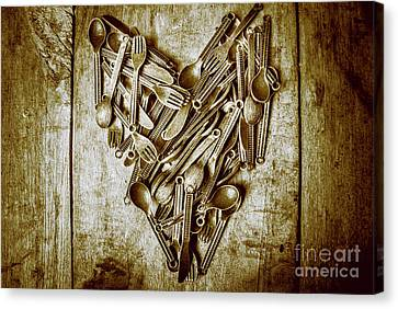 Forks Canvas Print - Heart Of The Kitchen by Jorgo Photography - Wall Art Gallery