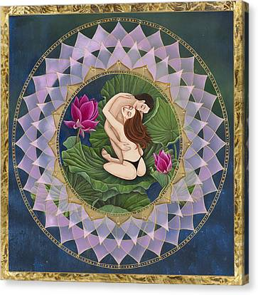 Heart Of The Lotus Canvas Print by Nadean O'Brien