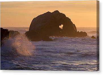 Canvas Print featuring the photograph Heart Of The Ocean by Nathan Rupert