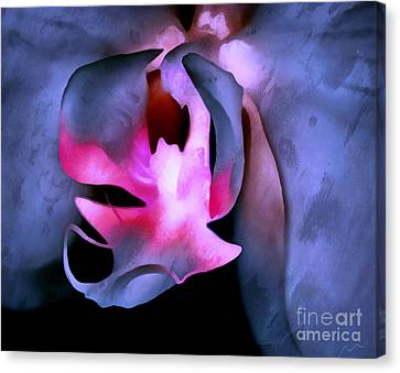 Heart Of The Orchid Canvas Print by Krissy Katsimbras