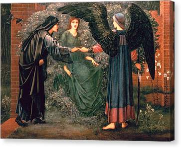 Heart Of The Rose Canvas Print by Sir Edward Burne-Jones