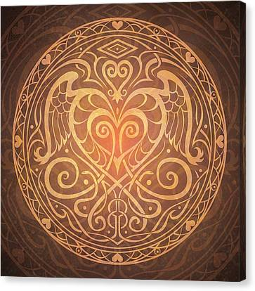 Heart Of Wisdom Mandala Canvas Print