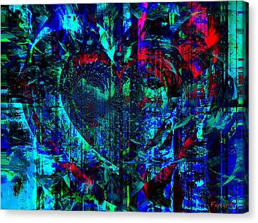 Canvas Print featuring the painting Heart Potential by Fania Simon