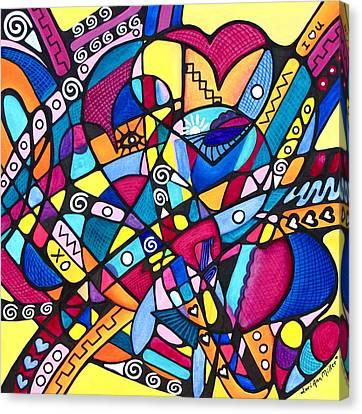 Heart Reunion Canvas Print by Lori Miller