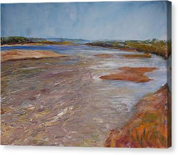 Confluence Of The Heart  Canvas Print by Helen Campbell