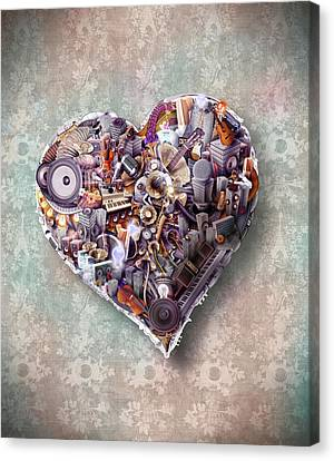Heart Canvas Print by Robert Palmer