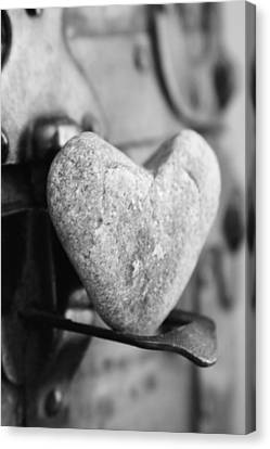 Our Love Is Like A Rock Solid Canvas Print by Toni Hopper