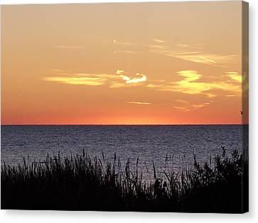 Heart Sunset Canvas Print