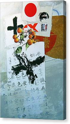 Canvas Print featuring the painting Heart Sutra by Cliff Spohn