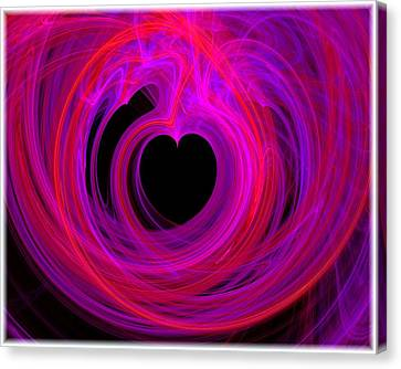 Heart Swirls Canvas Print