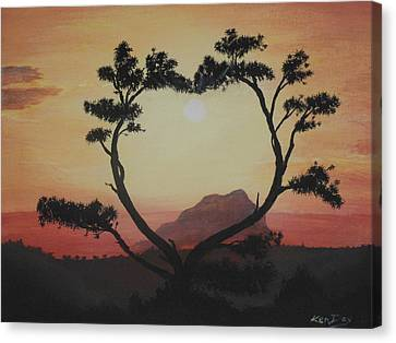 Heart Tree Canvas Print by Ken Day