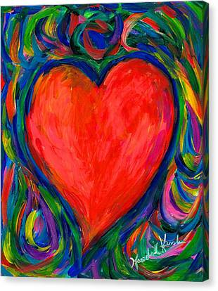 Heart Twirl Canvas Print by Kendall Kessler