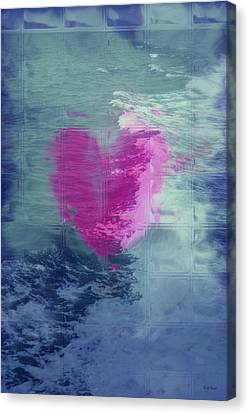 Heart Waves Canvas Print by Linda Sannuti