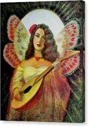 Heart Wings Angel Canvas Print