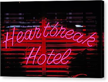Heartbreak Hotel Neon Canvas Print