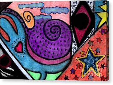 Canvas Print featuring the mixed media Heartfelt by Christine Perry