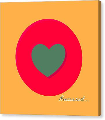 Heart'round Canvas Print by Hans Tondereau