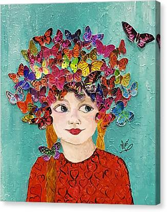 Insects Canvas Print - Hearts A Flutter by Mar Hammel