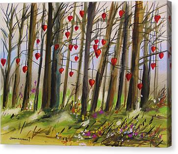 Hearts At Dusk Canvas Print by John Williams