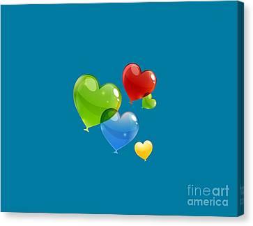 Hearts 11 T-shirt Canvas Print