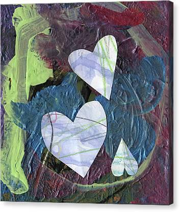 Hearts Canvas Print by Michelle Dooley and Kaya Paxman