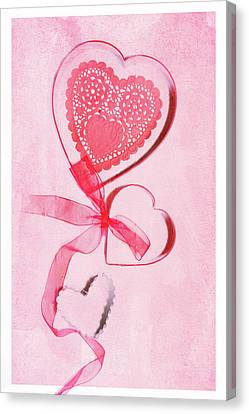 Canvas Print featuring the photograph Hearts by Rebecca Cozart