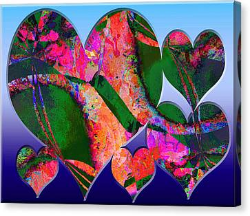 Hearts Together Canvas Print by Contemporary Art