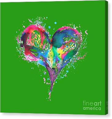 Hearts 6 T-shirt Canvas Print