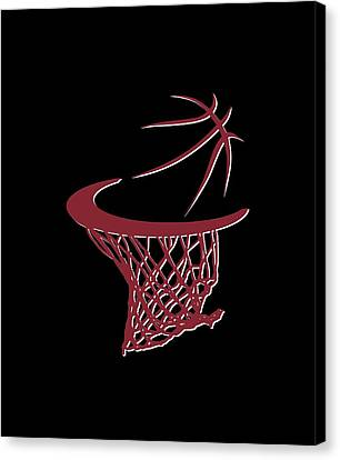 Heat Basketball Hoop Canvas Print by Joe Hamilton