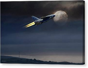 Canvas Print featuring the digital art Heat Of The Night by Peter Chilelli
