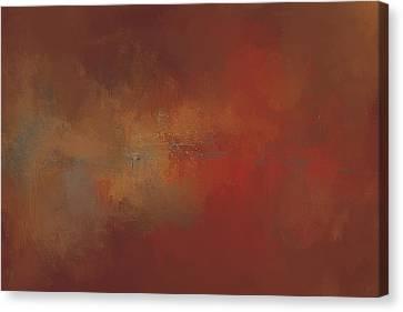 Heated Autumn Abstract Painting Canvas Print by Jai Johnson