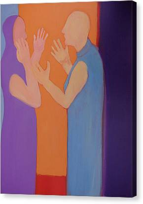Heated Conversation Canvas Print by Renee Kahn