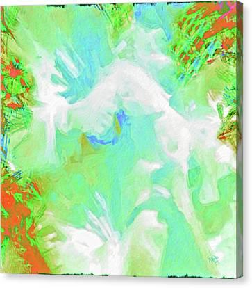 Heather's White Gladiolas Canvas Print