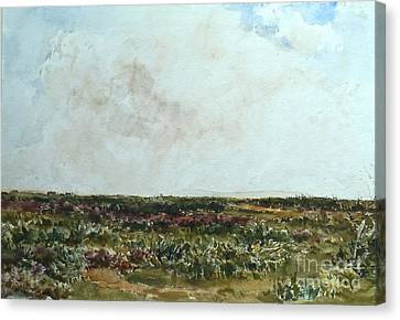 Collier Canvas Print - Heathland Scene Looking Towards by MotionAge Designs
