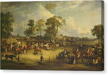 Heaton Park Races Canvas Print by John Ferneley