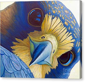 Falcon Canvas Print - Heaven And Earth by Brian  Commerford