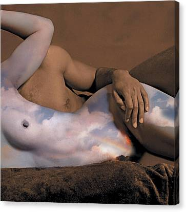 Heaven And Earth Canvas Print by Fern Logan