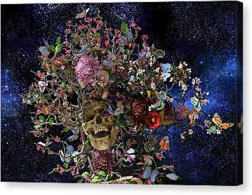 Night Sky Canvas Print - Heaven Help The Fool by Betsy Knapp