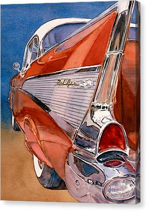 57 Chevy Canvas Print - Heaven Is A '57 by Diane Morgan