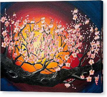 Heavenly Blossoms Canvas Print by Olga Smith