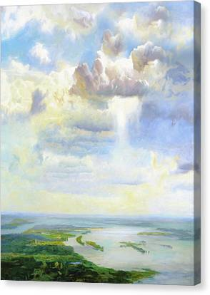 Heavenly Clouded Beauty Abstract Realism Canvas Print